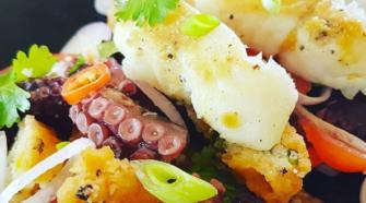 salade de poisson et d'ourite