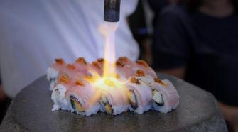 Un atelier de sushi à Ocean Basket
