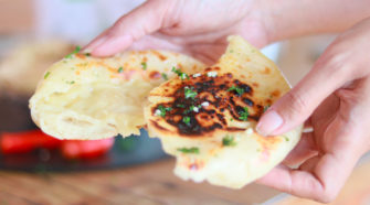 recette cheese naan au fromage