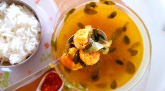 Recette du bouillon crevettes au brede mouroum