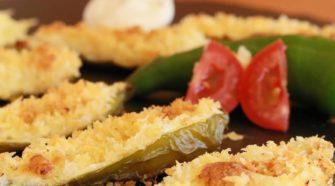 Recette du pima kari farci au fromage gratiné